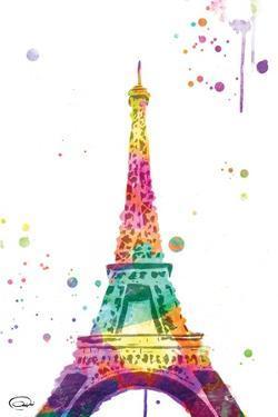 Eiffel watercolor by OnRei