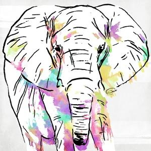 Elephant Head Colorful by OnRei
