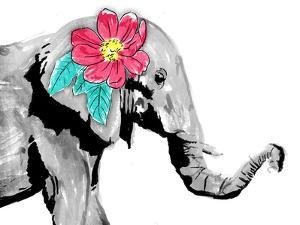 Floral Elephant by OnRei