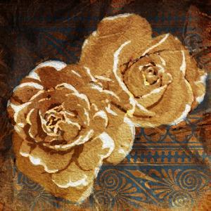 Loving Navy Gold Roses by OnRei