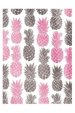 Pink Grey Pineapples by OnRei