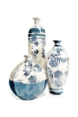 White China Vases by OnRei