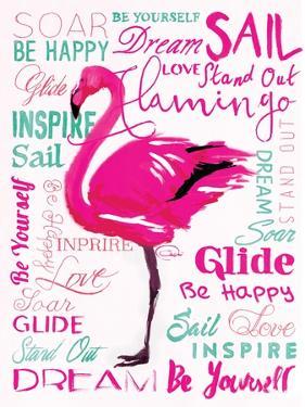 Wordy Flamingo by OnRei