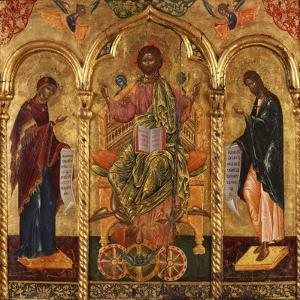 Christ Pantocrator, Virgin and St. John by Onufri Qiprioti