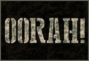 Oorah! Camouflage Military Poster