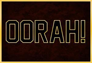 Oorah! Red and Gold Military Poster