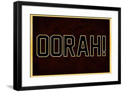Oorah! Red and Gold Military--Framed Art Print