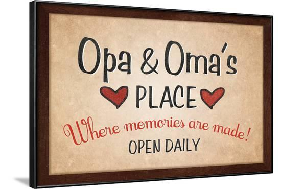Opa and Omas Place--Framed Art Print