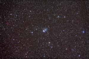 Open Cluster NGC 457 in the Constellation Cassiopeia
