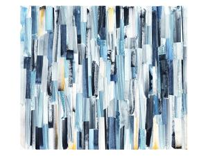 Abstract Art Background with Multicolor Stripes and Teals. Ink Texture on Paper by openeyed