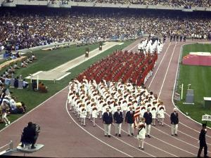 Opening Ceremonies Taking Place at the 19th Summer Olympics