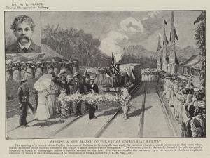 Opening of a New Branch of the Ceylon Government Railway