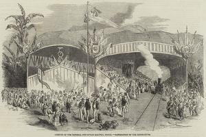 Opening of the Imperial Petropolis Railway, Brazil, Benediction of the Locomotives