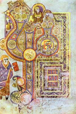 Opening Words of St Matthew's Gospel Liber Generationes, from the Book of Kells, C800
