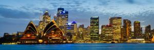 Opera House Lit Up at Dusk, Sydney Opera House, Sydney Harbor, New South Wales, Australia