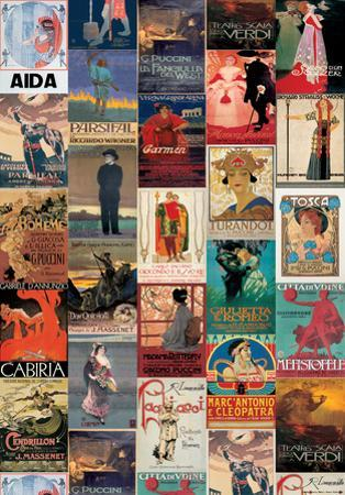 Opera Vintage Style Poster Collage