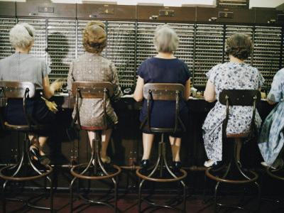 Operators at the White House Switchboard around 1960