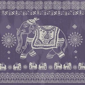 Boho Elephant Purple by Ophelia Co.