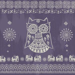 Boho Owl Purple by Ophelia & Co. Ophelia & Co.