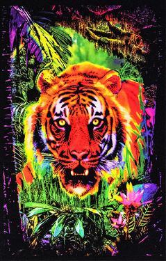 Opticz Jungle Tiger Blacklight Reactive Poster