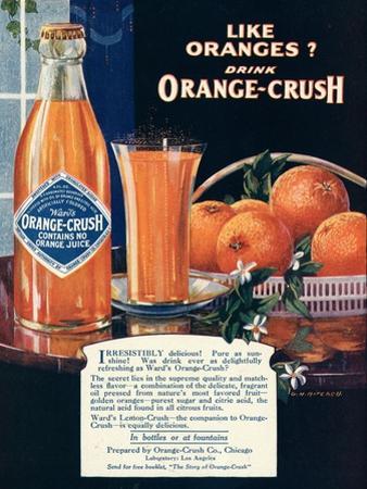 Orange-Crush, Oranges, USA, 1920