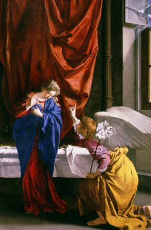 Annunciation by Orazio Gentileschi
