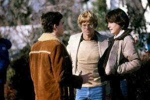 ORDINARY PEOPLE, 1980 directed by ROBERT REDFORD On the set, Robert Redford with Timothy Hutton and