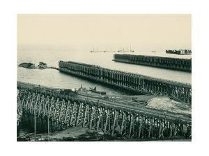 Ore Docks on Lake Superior, Marquette, Michigan, 1890s
