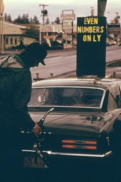 Oregon Used Odd and Even License Plate Numbers to Ration Gas in 1970s