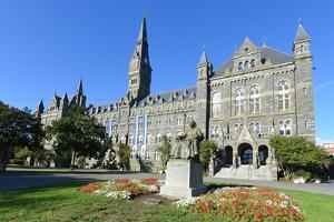 Georgetown University Main Building in Washington DC - United States by Orhan