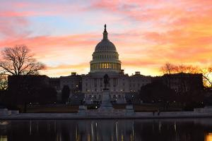 Washington Dc, Capitol Building in a Cloudy Sunrise by Orhan