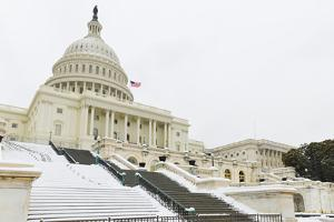 Washington DC - the Capitol Buildin in Snow by Orhan