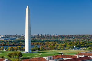 Washington DC - Washington Monument Aerial View in Beautiful Autumn Colors by Orhan