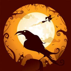 Halloween - Crow in Halloween Night by ori-artiste