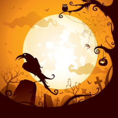 Halloween - Crow on the Graveyard by ori-artiste