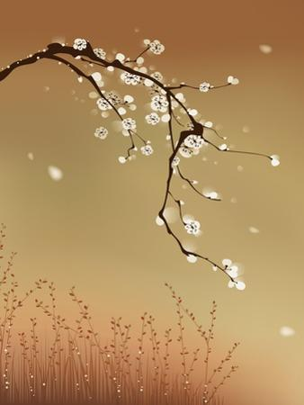 Oriental Style Painting, Plum Blossom by ori-artiste