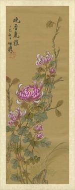 Oriental Floral Scroll III