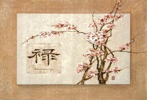 Oriental Prosperity Floral Art Print Poster