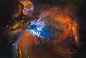 Orion Nebula Brilliant Space Galaxy Photo Poster