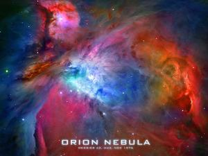 Orion Nebula Text Space Photo Poster Print