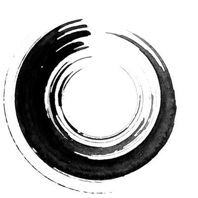 Black Calligraphic Brush