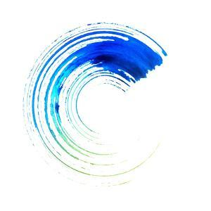 Blue Colored round Brush Stroke by oriontrail2