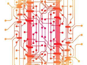 Illustration of Computer Circuit Board by oriontrail2