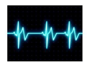 Modern Heart Beat ECG Graph by oriontrail2