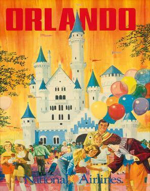 Orlando, Florida, USA, Walt Disney World Resort, National Airlines