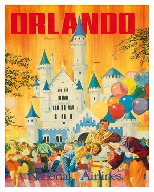 Orlando, Florida, USA, Walt Disney World Resort, National Airlines