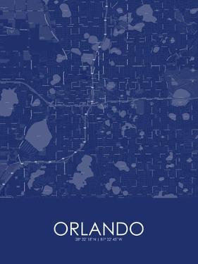 Orlando, United States of America Blue Map