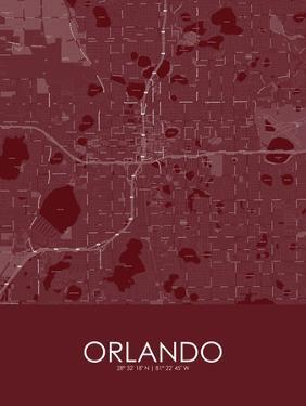 Orlando, United States of America Red Map