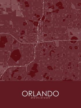 Orlando, United States of America Red Map