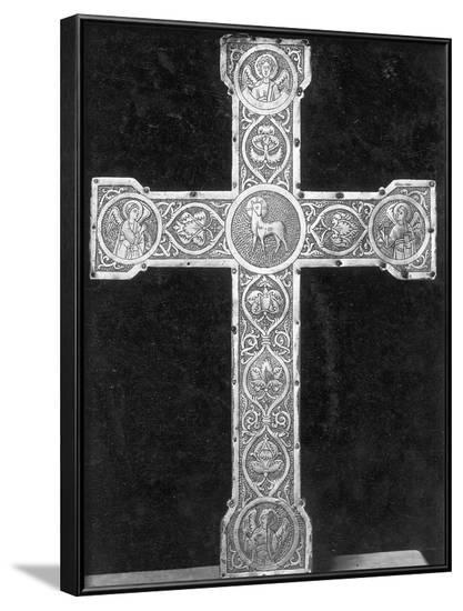Ornate, Engraved German Metal Cross--Framed Photographic Print